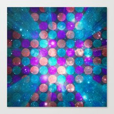 Glitter Dots Canvas Print