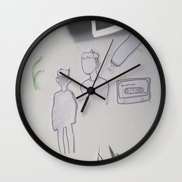 Prince Doodles, on the wall. Wall Clock
