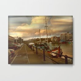 The Harbourside Metal Print