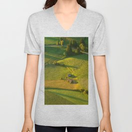 Huts in the Fields Unisex V-Neck