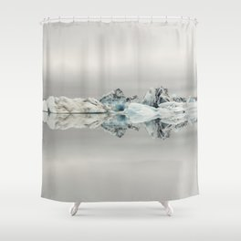 Jokulsarlon Iceland - Minimalist Landscape Photography Shower Curtain