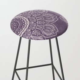 Mandala Tulips in Lavender ad Cream Bar Stool