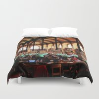 library Duvet Covers featuring Paris Library by MarianaManina