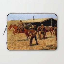 "Frederic Remington Western Art ""Pony Express"" Laptop Sleeve"