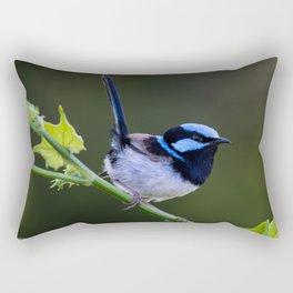 Superb Fairy-Wren Rectangular Pillow