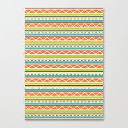 Citronique Series: Lignes Melon Canvas Print