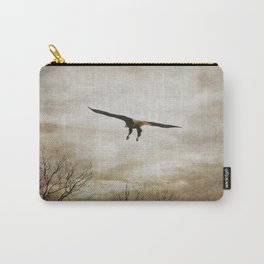 Home Safely - Bald Eagle in Flight Carry-All Pouch