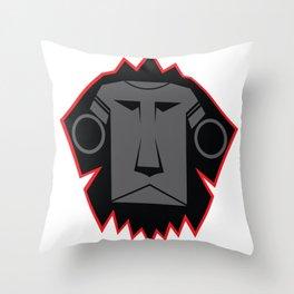 Dark Lion Log Throw Pillow