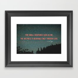 Vastness - Carl Sagan Framed Art Print