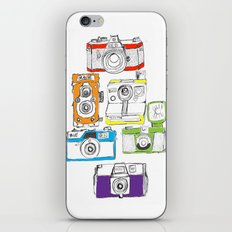 Colorful Cameras iPhone & iPod Skin
