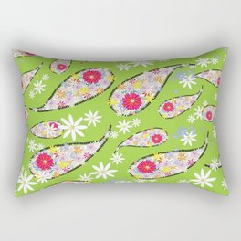 Paisley Design Avocado Rectangular Pillow