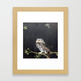 Little Owl and Ivy Framed Art Print