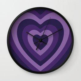 Amethyst Hypnohearts Wall Clock