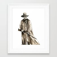 wesley bird Framed Art Prints featuring John Wesley by Andrew Cherry