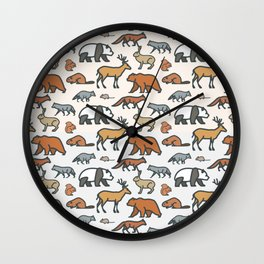 Animal pattern Wall Clock