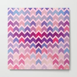 Watercolor Chevron Pattern II Metal Print