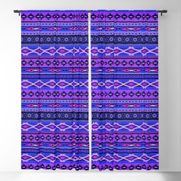 Modern Native Navajo Ethnic Tribal - Purple, Violet & Blue Colors Blackout Curtain