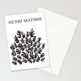 Black flower cutoff pattern inspired by Henri Matisse Stationery Cards