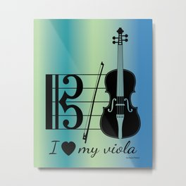 Viola Design Metal Print