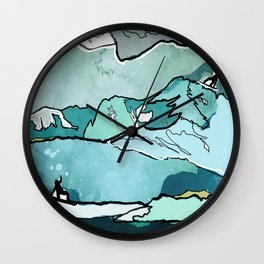 Snowboarding sessions Wall Clock