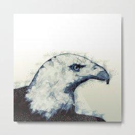 Polygonal Bald Eagle Metal Print