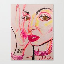 self portrait in neon (tara savelo) Canvas Print