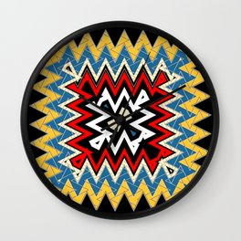 abstract zees 4 Wall Clock