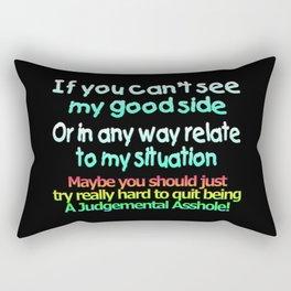 So Many Judgemental Assholes Rectangular Pillow