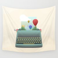 write Wall Tapestries featuring Write your story by Moremo