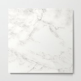 Marble by Hand Metal Print