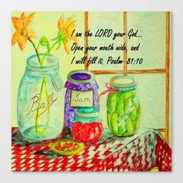 God Provides Canvas Print
