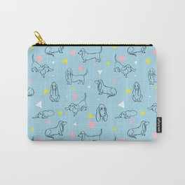 Colorful Basset Hounds Pattern Carry-All Pouch