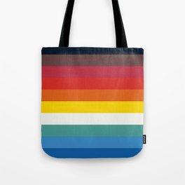 Multicolor Retro Stripes Trickster Tote Bag