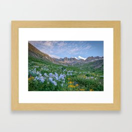 COLORADO HIGH COUNTRY PHOTO -  MOUNTAIN IMAGE - SUMMER WILDFLOWERS PICTURE - LANDSCAPE PHOTOGRAPHY Framed Art Print
