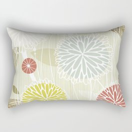 Abstract Floral Beige by Friztin Rectangular Pillow