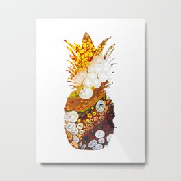 Fire Pineapple Metal Print