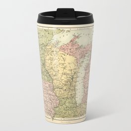 Map of the American Midwest (1873) Travel Mug
