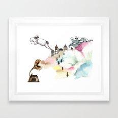 Rabbit Cloud Framed Art Print