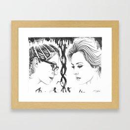 Orphan Black - Cophine Ink Wash Framed Art Print
