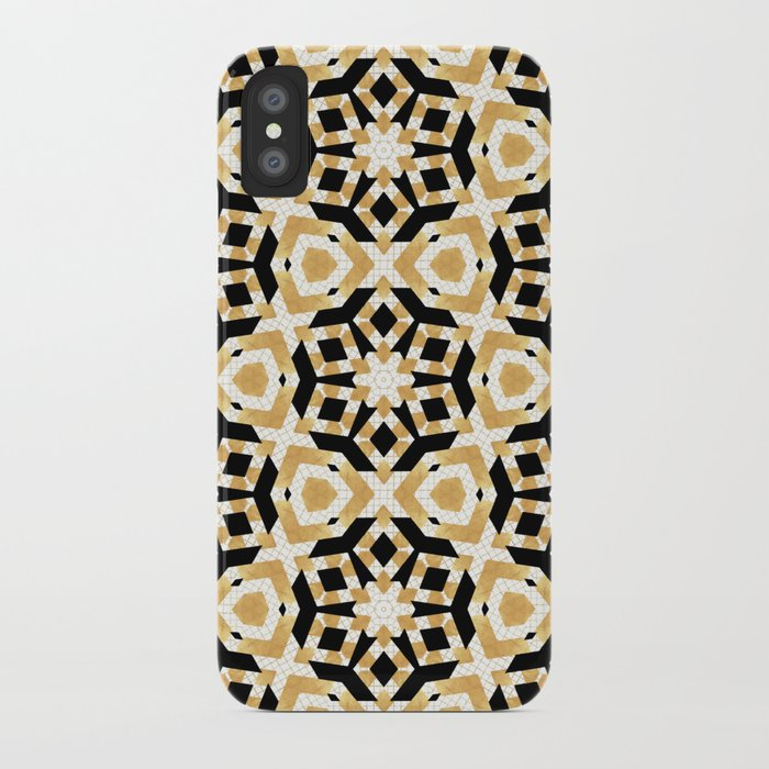 42153aecfd Gold Foil Art Deco Star Pattern iPhone Case by lisaguenraymond | Society6