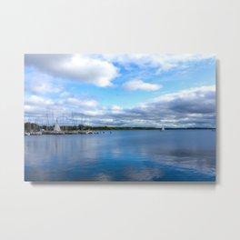 Blue sea - blue sky Metal Print