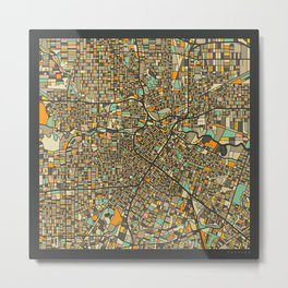 HOUSTON MAP Metal Print