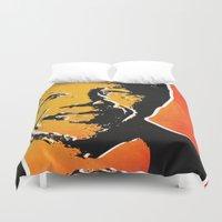 mandela Duvet Covers featuring nelson mandela by mark ashkenazi