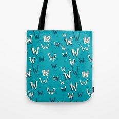 Letter Patterns, Part W Tote Bag