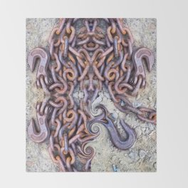 Chained hearts abstract photography Throw Blanket