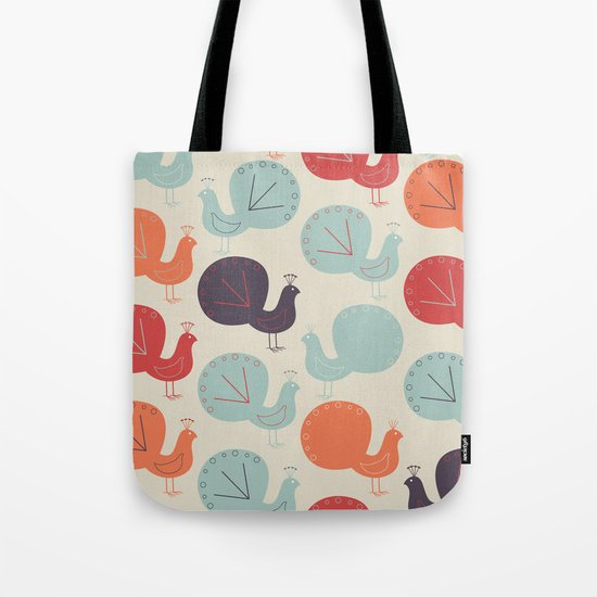 Peacock Pattern Tote Bag