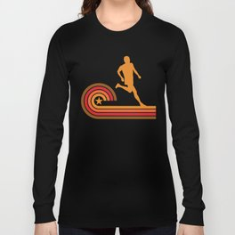 Retro Style Runner Vintage Running Long Sleeve T-shirt