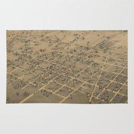 Vintage Pictorial Map of La Grange TX (1880) Rug