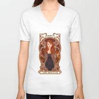 lydia martin V-neck T-shirts featuring Lydia by callahaa
