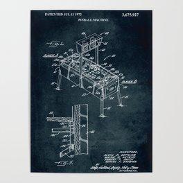 1972 - Pinball machine Poster